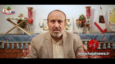 تصویر از تبریک عید توسط حاج یدالله پاشازاده از دوربین حاجت نیوز