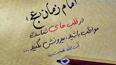 تصویر از امام زمان (ع) در قلب های شماست. مواظب باشید، بیرونش نکنید …
