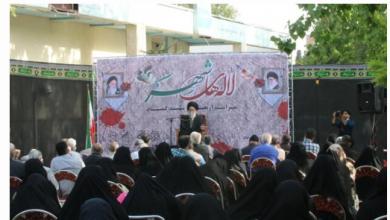تصویر از مراسم چهلم تدفین شهدای گمنام محله یافت آباد