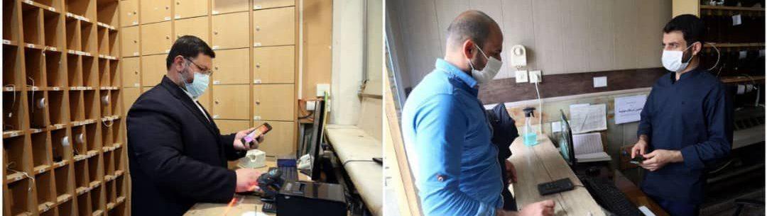 تصویر از استقبال زائران نوروزی حرم از دفاتر شارژ تلفن همراه