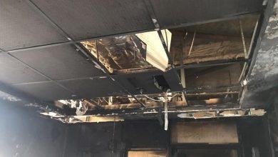 تصویر از آتشسوزی در بیمارستان بقیه الله تهران