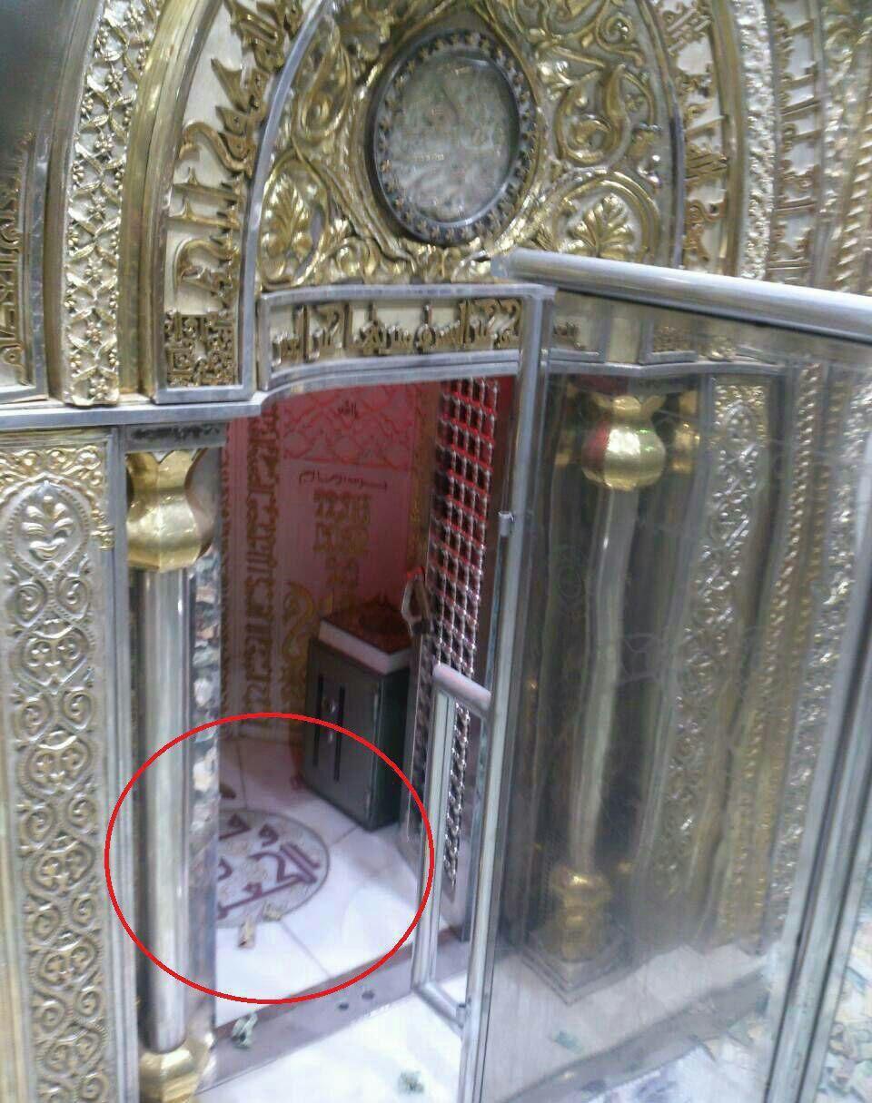 تصویر از محل ضربت خوردن امام علی علیه السلام در مسجد کوفه