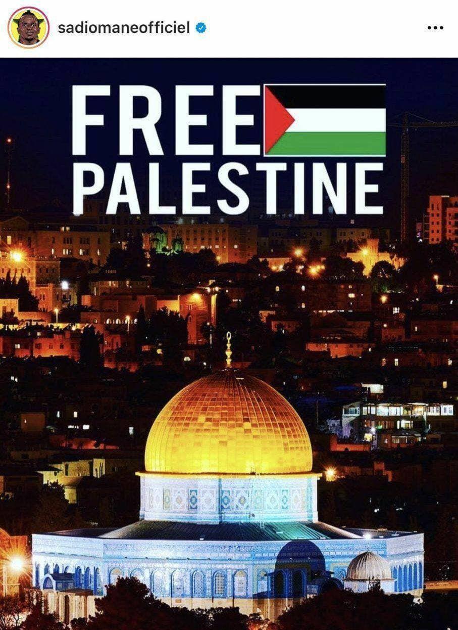 تصویر از حمایت ستارههای لیورپول از مردم فلسطین